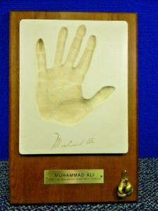 ☆ Muhammad Ali Hand Print Plaque Wall Hanging Silk Road Gifts