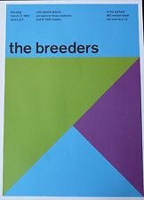 "The Breeders - Live at The Warfield - Concert Mini Poster Reprint - 10""x14"""