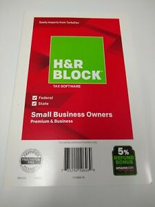 H&R Block Tax Software Small Business Owners Premium & Business (2018) - NEW
