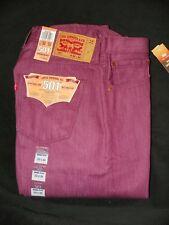 New Men's Shrink-To-Fit Grape Kiss Color Levi's 501 Jeans 33x34 MSRP - $69.50