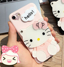 Hello Kitty Silicon Cover Case For iPhone 6/6S Plus 7 plus with Mirror Gift New