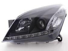 Vauxhall Astra H 04-08 Black DRL Devil Angel Eyes Front Headlights Lights - Pair