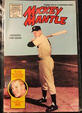 MICKEY MANTLE #1 issue 1991 MAGNUM COMICS book in plastic BASEBALL MLB Yankees