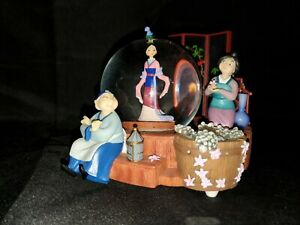 RARE Disney Store Mulan Musical Snow Globe Preparing for Matchmaker HTF