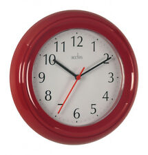 Acctim Ck1414 Wycombe Wall Clock Red