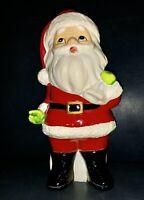 Vintage MY Japan Santa with his sack of toys behind him  7.25 in tall