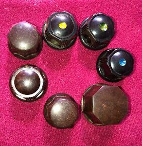 7 Assorted OLD Bakelite Knobs for old Valve radios – L@@K