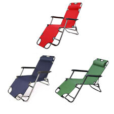 New Outdoor Folding Reclining Beach Sun Patio Chaise Chair Pool Lawn Lounger USA