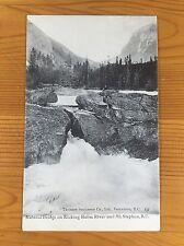 Natural Bridge on Kicking Horse River and Mt. Stephen, BC Postcard