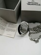 Vivienne Westwood Large 3D silver tone Orb Pendant Necklace New with Box