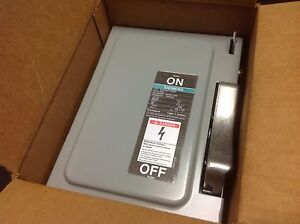 Siemens Heavy Duty Safety Switch SN321 30 Amps 240 VAC Series A 1 NEW NOS $29