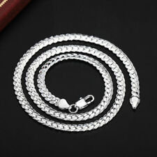 Women Men Jewelry 925 Sterling Silver Fashion 5mm Snake Chain Necklace Jshn130