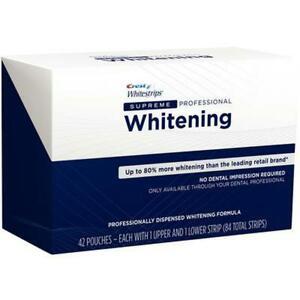 Crest Whitestrips Supreme Professional Whitening 84 strips - 42 pouches - 2022