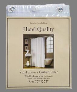"Super Clear Heavy Weight Hotel Quality 8-gauge Vinyl  Shower Liner: 72"" x 72"""