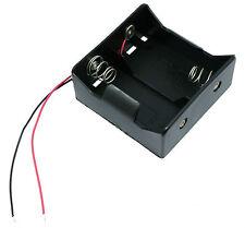 D X 2 abierto sostenedor de batería Caja 15cm Cables