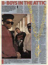 16/11/91 Pgn14/16 Article & Picture b-boys In The Attic Kings Of Rap Run-dmc Tel