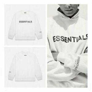 NEW FOG Essentials Kanye West Sweatshirt 3D LOGO Loose Pullover Unisex Jumper