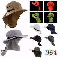 c8f49513f959a Bucket Bonnie Hat Brim Sun Neck Cover Flap Cap Hunting Fishing Hiking  Gardening