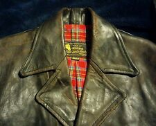 LEVI LVC x AERO VINTAGE 1950s RUFF N READY MOTORCYCLE HORSEHIDE LEATHER JACKET M