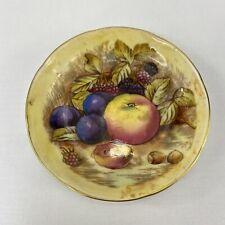 "Aynsley Orchard Gold Fruit Small Plate 4.25"" Diameter Fine English Bone China"