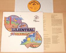 LILIENTHAL - Lieder & Tänze  (FOLK FREAK 1977 + Text-Beilage / LP vg++)