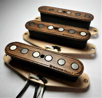 Wiggins Brand, hand wound Strat pickup set, Alnico, Wood, MADE TO ORDER