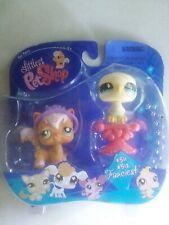 New Littlest Pet Shop 511 512 Angora Princess Cat & Dove Pigeon Eaglet Last Pc
