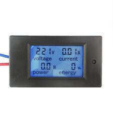 20a Ac Lcd Digital Power Panel Meter Monitor Power Energy Voltmeter Ammeter New