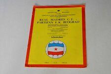 More details for european cup final (1966) real madrid v partizan begrade programme