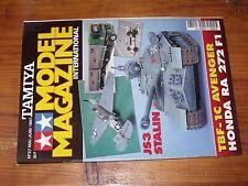 $$$ Revue Tamiya Model Magazine N°27 JS3 StalinTBF-1C AvengerHonda RA 272 F1