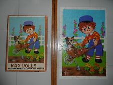 Raggedy Andy Rag Dolls Vintage Puzzle 100+ Pieces Used Complete