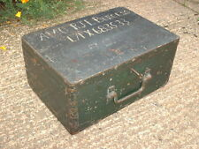ANTIQUE RUSTIC STRONG  BOX / MILITARY CHEST