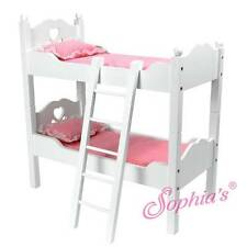 """Hand Painted White Bunk Bed Set for 18"""" American Girl Dolls"""