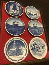 6 Royal Copenhagen Fajance mini plates Denmark Danish Blue