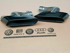Audi Q7 4M SQ7 original exhaust tailpipes tail pipes tips in black finish