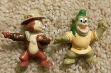 Disney Gummi Bears Gruffi & Chip Pvc Action Figure Kelloggs 1991 Cereal Premium