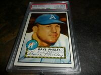 1952 Topps Dave Philley #226 PSA/DNA Auto Signed PHILADELPHIA Phillies D.2012