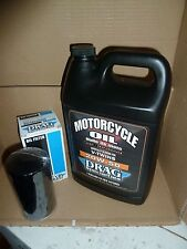 HARLEY DAVIDSON GALLON OF OIL' AND BLACK OIL FILTER FOR SPORTSTER 84-17 MODELS