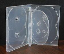 New 12 Pk Crystal Clear Multi DVD Case Box 22mm 8 Discs Holder W Flap Premi