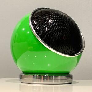 Ultra Modern Premium Electrohome Weltron Orb Ball Polished Chrome Speaker Stand
