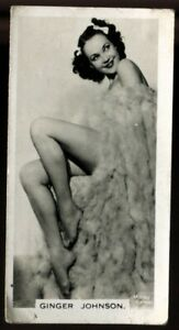 Tobacco Card, Carreras, FILM AND STAGE BEAUTIES, 1939, Ginger Johnson, #11