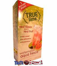True Lime Watermelon Aqua Fresca Drink Mix 5 Pitcher Packs 60g Box 10 Quarts