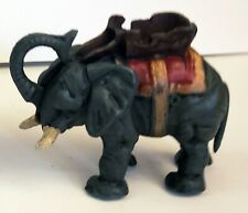 Vintage Cast Iron Elephant Mechanical Coin Bank Works Hard to Find