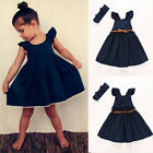 Sweet Toddler Kids Girls Flower Princess Party Wedding Pageant Dresses Age 3-8Y