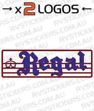 2x CHESNEY REGAL Caravan decal, sticker, vintage, graphics, retro