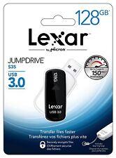 LEXAR 128gb JumpDrive ® s35 SuperSpeed USB 3.0 Flash Drive con design privo di tappi.