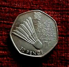 2011 rare BADMINTON 50p piece from the 2012 London Olympic Games