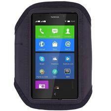 Fascia braccio Sport per Nokia Lumia 635 bracciale Armband fitness corsa Nera