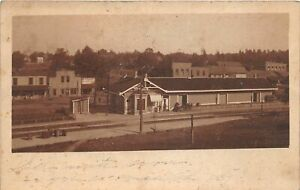 F72/ East Bernstadt Kentucky RPPC Postcard 1907 Railroad Depot