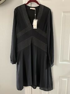 Tory Burch Black Long Sleeve Womens Dress Size 8 $450